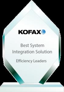 Efficiency Leaders Awards Best Integration